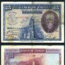 Billetes españoles: 25 PESETAS DE 1928 SELLO FRANQUISTA SALUDO A FRANCO ¡ARRIBA ESPAÑA! Y BUSTO DE FRANCO VIOLETA - Nº30. Lote 146133733