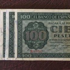 Billetes españoles: 100 PESETAS 1936 DE BURGOS MUY RARO ESCASO REF 64357. Lote 133173261