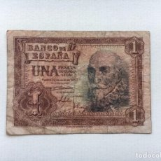 Billetes españoles: BILLETE ESPAÑA 1 PESETA 1953 MARQUÉS DE SANTA CRUZ. Lote 90743080