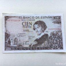 Billetes españoles: BILLETE ESPAÑA 100 PESETAS 1965 BÉCQUER. Lote 90744315