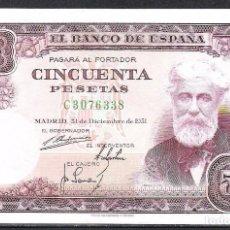 Billetes españoles: 50 PESETAS 1951 SERIE C S/C. Lote 92783940