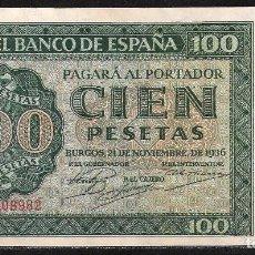 Billetes españoles: 100 PESETAS 1936 SERIE X EBC/EBC+. Lote 92784890