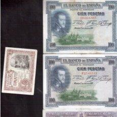Billetes españoles: BILLETES DE ESPAÑA LOTE. Lote 93392725