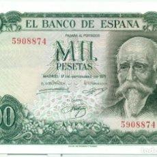 Billetes españoles: 1000 PTAS. DE ECHEGARAY PLANCHA Y SIN SERIE. Lote 93682975