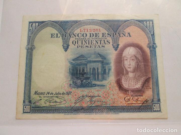 BILLETE * 500 PESETAS * 24 DE JULIO DE 1927 * (Numismática - Notafilia - Billetes Españoles)