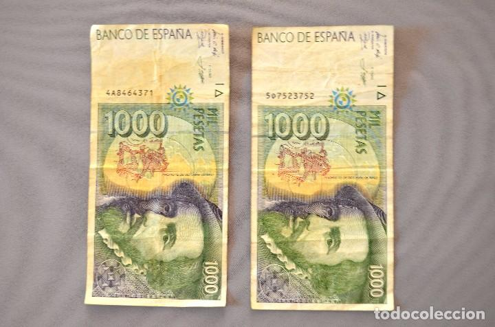 DOS BILLETES DE MIL PESETAS (Numismática - Notafilia - Billetes Españoles)