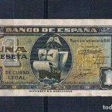 Billetes españoles: UNA PESETA DE 1940 SERIE-C EBC+. Lote 94067295