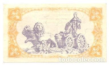 Billetes españoles: BILLETE UNA PESETA 1937 - REPÚBLICA - 1 PESETA - Foto 2 - 94461310