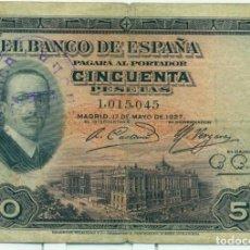 Billetes españoles: 50 PTAS.DEL 17 DE MAYO DEL 1927. Lote 94743019