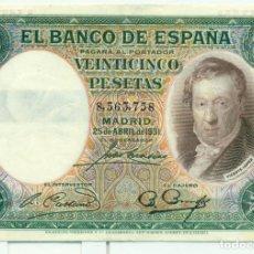 Billetes españoles: 25 PTAS DE VICENTE LOPEZ. Lote 94744139