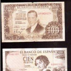 Billetes españoles: BILLETES DE ESPAÑA FRANCO . Lote 95307759