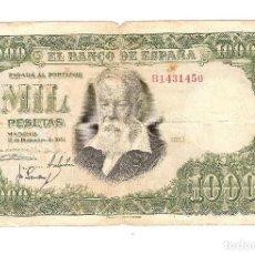 Banconote spagnole: BILLETE - 1.000 PESETAS EM. 31-12-1951- CIRCULADO - VER FOTOS. Lote 95414247