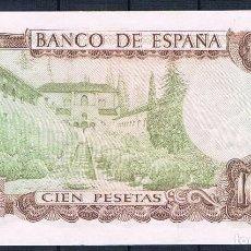 Billetes españoles: 100 PESETAS DE 1970 !OJO! REVERSO VERDE SC-. Lote 95461671