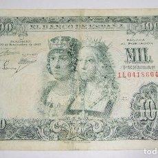 Billetes españoles: 1000 PESETAS. 1957. REYES CATOLICOS. SERIE 1L. Lote 96673967