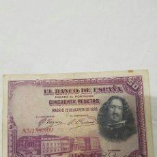 Billetes españoles: BILLETE DE 50 PESETAS DE 1928 #. Lote 96712362