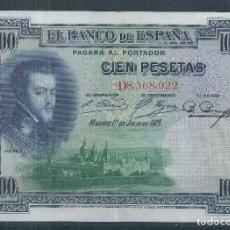 Billetes españoles: R17/BILLETE 100 PESETAS, AÑO 1925. Lote 96916427