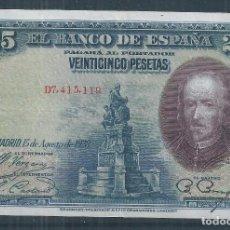 Billetes españoles: R17/ BILLETE 25 PESETAS, AÑO 1928. Lote 96917351