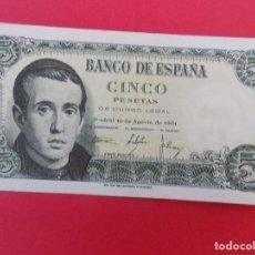 Billetes españoles: BILLETE DE 5 PESETAS 1951 (JAIME BALMES) CON SERIE U - CALIDAD SC - .. R-7085. Lote 96925043