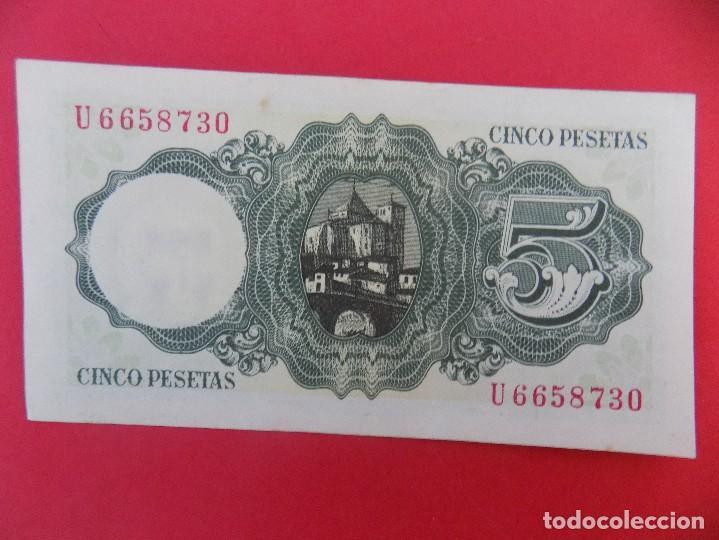 Billetes españoles: BILLETE DE 5 PESETAS 1951 (JAIME BALMES) CON SERIE U - CALIDAD SC - .. R-7085 - Foto 2 - 96925043