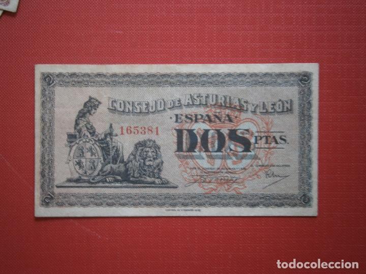 Billetes españoles: Consejo de Asturias y Leon 25-40-50 Centimos 1 y 2 Pesetas Juego Completo Raro Ver Fotos - Foto 11 - 30333843