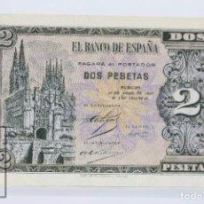 Billetes españoles: BILLETE DE 2 PESETAS / PTAS - EMISIÓN 30 DE ABRIL DE 1938, BURGOS - SERIE C - CALIDAD EBC+. Lote 98358287