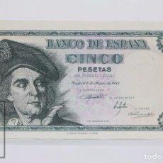 Billetes españoles: BILLETE DE 5 PESETAS / PTAS - EMISIÓN 5 DE MARZO DE 1948 - SERIE A - CALIDAD SC. Lote 98360619