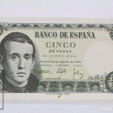 Billetes españoles: BILLETE DE 5 PESETAS / PTAS - EMISIÓN 16 DE AGOSTO DE 1951 - SERIE Y - CALIDAD EBC. Lote 98361551