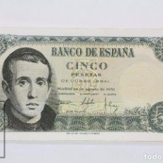 Billetes españoles: BILLETE DE 5 PESETAS / PTAS - EMISIÓN 16 DE AGOSTO DE 1951 - SERIE C - CALIDAD SC. Lote 98361651