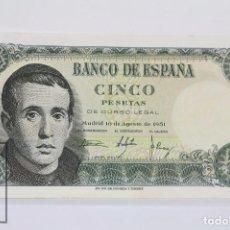 Billetes españoles: BILLETE DE 5 PESETAS / PTAS - EMISIÓN 16 DE AGOSTO DE 1951 - SIN SERIE - CALIDAD SC. Lote 98361695
