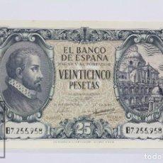 Billetes españoles: EXCEPCIONAL BILLETE DE 25 PESETAS / PTAS - EMISIÓN 9 DE ENERO DE 1940 - SERIE B - CALIDAD SC. Lote 98365055