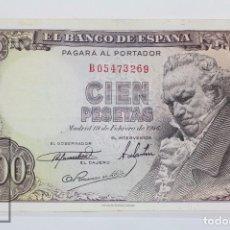 Billetes españoles: BILLETE DE 100 PESETAS / PTAS - EMISIÓN 19 DE FEBRERO DE 1946 - SERIE B - CALIDAD EBC-. Lote 98433071