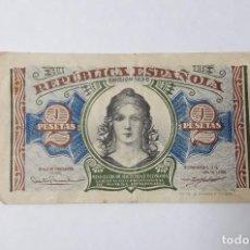 Banconote spagnole: BILLETE DE 2 PTS 1938 REPUBLICA ESPAÑOLA. Lote 98832011