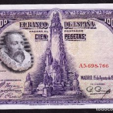 Billetes españoles: 100 PESETAS (15-AGOSTO-1928) S/C. Lote 99349307