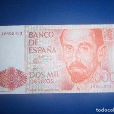 Billetes españoles: 2000 PTS DE 1980 SERIE A, CON NÚMERO BAJISIMO, SIN CIRCULAR/PLANCHA.. Lote 99469887