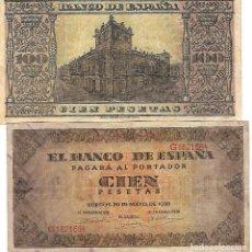 Billetes españoles: BILLETE BANCO ESPAÑA 100 PESETAS BURGOS G1821664. Lote 100901223