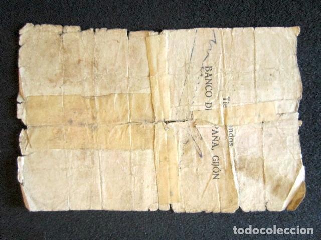 Billetes españoles: 1936-1937. 5 PESETAS. GIJÓN. BILLETE DEL BANCO DE ESPAÑA. GUERRA CIVIL. - Foto 2 - 101360263