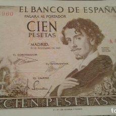 Billetes españoles: BILLETE 100 PESETAS 1965 BC. Lote 102284523