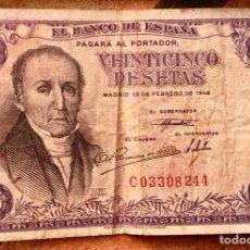 Billetes españoles: BILLETE DE 25 PESETAS DE 1946 SERIE C FLOREZ ESTRADA. Lote 102416848