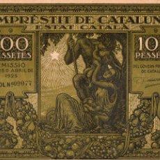 Billetes españoles: EMPRÈSTIT DE CATALUNYA. ESTAT CATALÀ. GENERALITAT CATALUNYA. GENERALIDAD CATALUÑA. PAU CLARIS. MACIÁ. Lote 103498487