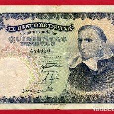 Billetes españoles: BILLETE 500 PESETAS 1946 , MBC+ , SIN SERIE , ORIGINAL , T030. Lote 103513851