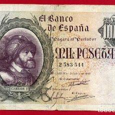 Billetes españoles: BILLETE 1000 PESETAS 1940 , MBC , SIN SERIE , ORIGINAL , T544. Lote 103514591