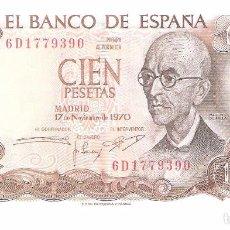 Billetes españoles: BILLETE DE ESPAÑA DE 100 PESETAS DE 1970 CIRCULADO . Lote 103612211