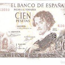 Billetes españoles: BILLETE DE ESPAÑA DE 100 PESETAS DE 1965 CIRCULADO GUSTAVO ADOLFO BÉCQUER . Lote 103612307