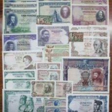 Billetes españoles: 30 BILLETES DE ALFONSO XIII, 2ª REPUBLICA, LOCALES Y DEL ESTADO ESPAÑOL. LOTE 0627. Lote 103700811