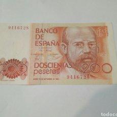 Billetes españoles: 200 PESETAS DE 1980 MADRID-PLANCHA. Lote 103779428