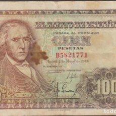 Billetes españoles: BILLETES ESPAÑOLES - ESTADO ESPAÑOL 100 PESETAS 1948 - SERIE B (MBC-). Lote 103889095