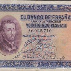 Billetes españoles: BILLETES ESPAÑOLES - ALFONSO XIII - 25 PESETAS 1926 - SERIE A. Lote 103911151
