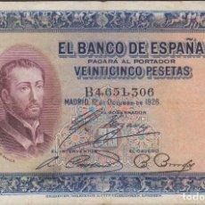 Billetes españoles: BILLETES ESPAÑOLES - ALFONSO XIII - 25 PESETAS 1926 - SERIE B. Lote 103911543