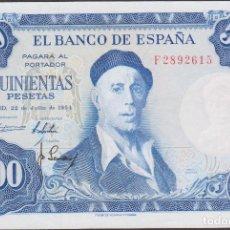 Billetes españoles: BILLETES ESPAÑOLES - ESTADO ESPAÑOL 500 PESETAS 1954 - SERIE F (SC-). Lote 104671103