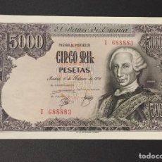 Billetes españoles: 5000 PESETAS 1976 CARLOS III SERIE I688883. Lote 104725619